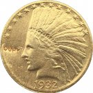 US 1932 Indian Head Half Eagle $10 Ten Dollars Gold Copy Coin  For Collection