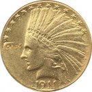 US 1911-D Indian Head Half Eagle $10 Ten Dollars Gold Copy Coin  For Collection