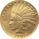 US 1930-S Indian Head Half Eagle $10 Ten Dollars Gold Copy Coin  For Collection