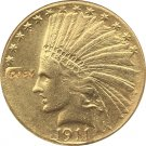 US 1911 Indian Head Half Eagle $10 Ten Dollars Gold Copy Coin  For Collection