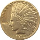 US 1913-S Indian Head Half Eagle $10 Ten Dollars Gold Copy Coin  For Collection