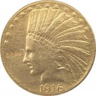 US 1916-S Indian Head Half Eagle $10 Ten Dollars Gold Copy Coin  For Collection