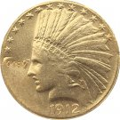 US 1912 Indian Head Half Eagle $10 Ten Dollars Gold Copy Coin  For Collection