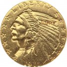 US 1911-D Indian Half Eagle $5 Five Dollars Gold Copy Coin  For Collection