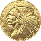 US 1909-D Indian Half Eagle $5 Five Dollars Gold Copy Coin  For Collection