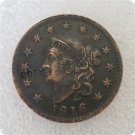 US 1816 Coronet Head Large Cent Copy Coin  For Collection