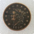 US 1820 Coronet Head Large Cent Copy Coin  For Collection