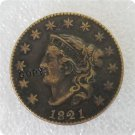 US 1821 Coronet Head Large Cent Copy Coin  For Collection
