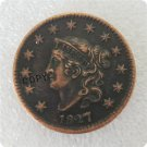 US 1827 Coronet Head Large Cent Copy Coin  For Collection
