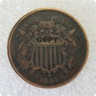 US 1864 2C Two Cent Piece Copy Coin  For Collection