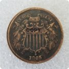 US 1865 2C Two Cent Piece Copy Coin  For Collection