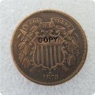 US 1873 2C Two Cent Piece Copy Coin  For Collection
