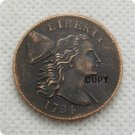 US 1794 Flowing Hair Liberty Cap Large Cent Copy Coin  For Collection