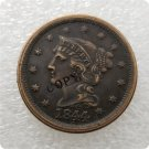 US 1844 Braided Hair Large Cent Copy Coin  For Collection