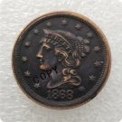 US 1868 Braided Hair Large Cent Copy Coin  For Collection