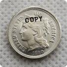 1880 US 3C Three Cent Nickel Copy Coin