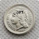 1882 US 3C Three Cent Nickel Copy Coin