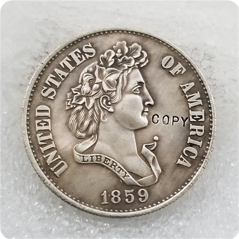 US 1859 French Head Half Dollar Patterns Copy Coin  For Collection