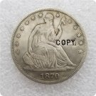 US 1870-CC Seated Liberty Half Dollar Copy Coin  For Collection