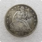 US 1873 Seated Liberty Half Dollar Copy Coin  For Collection