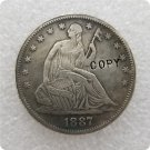 US 1887 Seated Liberty Half Dollar Copy Coin  For Collection