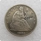 US 1888 Seated Liberty Half Dollar Copy Coin  For Collection