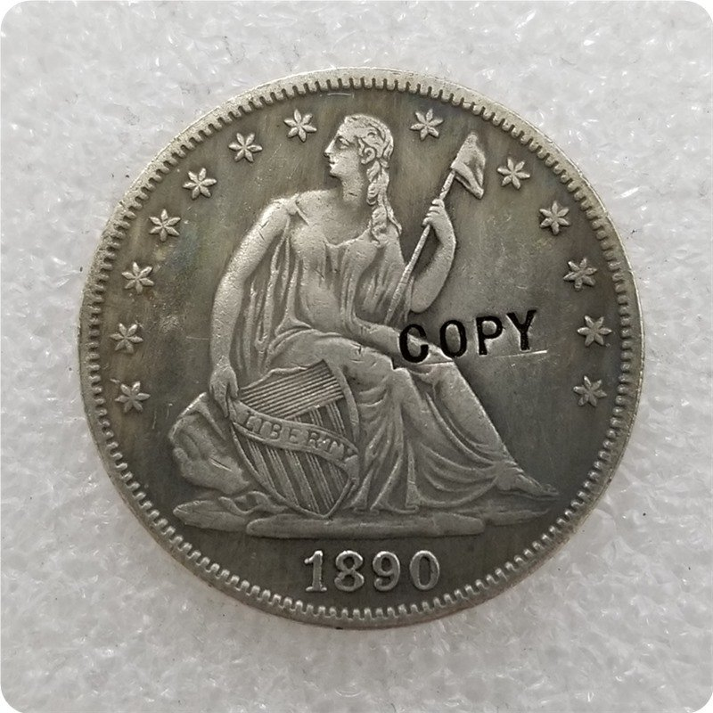 US 1890 Seated Liberty Half Dollar Copy Coin  For Collection