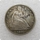 US 1870-S Seated Liberty Half Dollar Copy Coin  For Collection