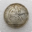 US 1872-S Seated Liberty Half Dollar Copy Coin  For Collection