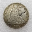 US 1874-S Seated Liberty Half Dollar Copy Coin  For Collection