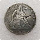 US 1878-S Seated Liberty Half Dollar Copy Coin  For Collection