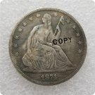 US 1874-CC Seated Liberty Half Dollar Copy Coin  For Collection