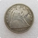 US 1843 Seated Liberty One Dollar Copy Coin  For Collection