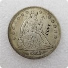 US 1853 Seated Liberty One Dollar Copy Coin  For Collection