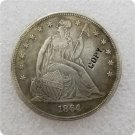 US 1864 Seated Liberty One Dollar Copy Coin  For Collection