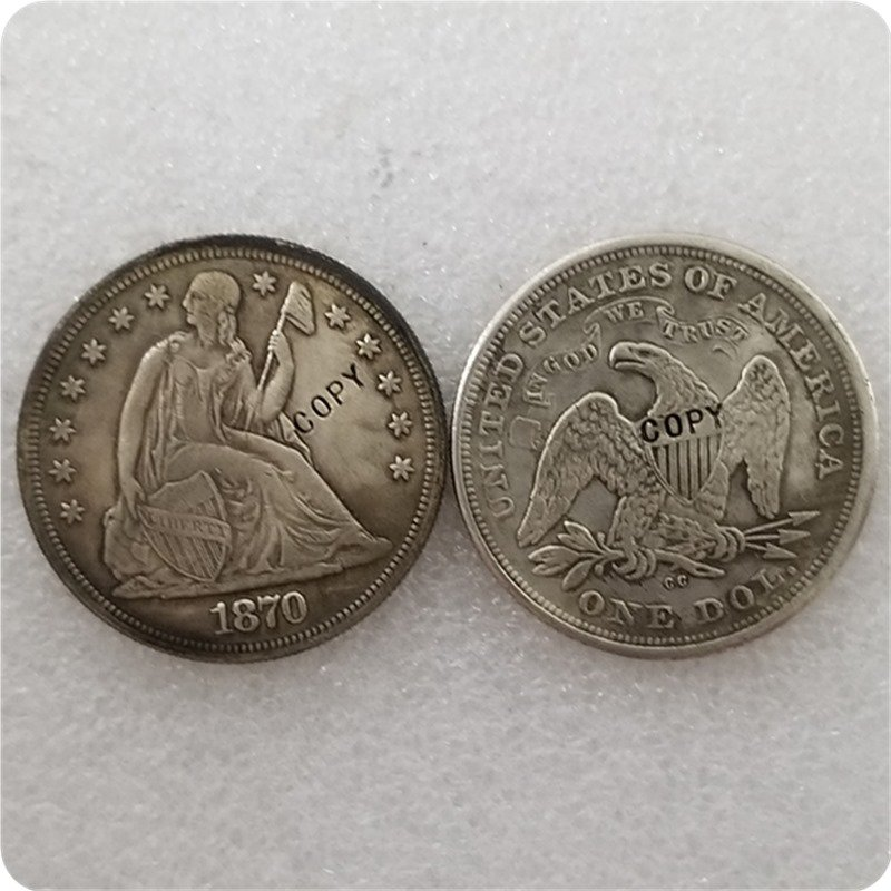 US 1870-CC Seated Liberty One Dollar Copy Coin  For Collection