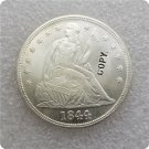US 1844 Seated Liberty UNC Silver One Dollar Copy Coin  For Collection