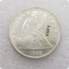 US 1848 Seated Liberty UNC Silver One Dollar Copy Coin  For Collection
