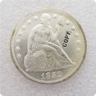 US 1852 Seated Liberty UNC Silver One Dollar Copy Coin  For Collection