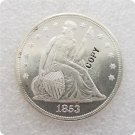 US 1853 Seated Liberty UNC Silver One Dollar Copy Coin  For Collection