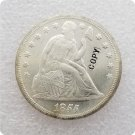 US 1855 Seated Liberty UNC Silver One Dollar Copy Coin  For Collection