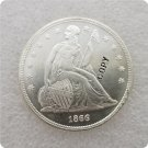 US 1866 Seated Liberty UNC Silver One Dollar Copy Coin  For Collection