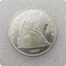 US 1867 Seated Liberty UNC Silver One Dollar Copy Coin  For Collection