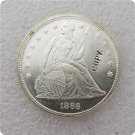US 1868 Seated Liberty UNC Silver One Dollar Copy Coin  For Collection