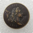 US 1794 Flowing Hair Half Cent Copy Coin  For Collection