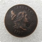 US 1797 Flowing Hair Half Cent Copy Coin  For Collection