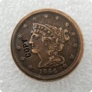 US 1844 Braided Hair Half Cent Copy Coin  For Collection