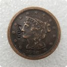US 1846 Braided Hair Half Cent Copy Coin  For Collection