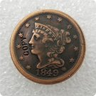 US 1849 Braided Hair Half Cent Copy Coin  For Collection