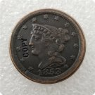 US 1853 Braided Hair Half Cent Copy Coin  For Collection